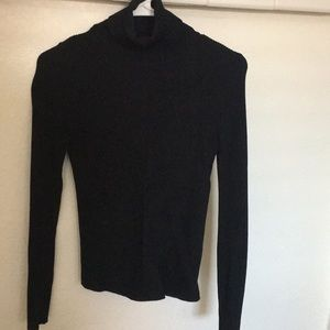 Zara Ribbed Black Turtle Neck